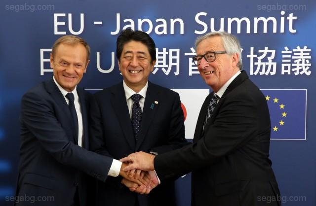 Снимка: ЕПА/БГНЕСЕС и Япония постигнаха принципна договореност по основните елементи