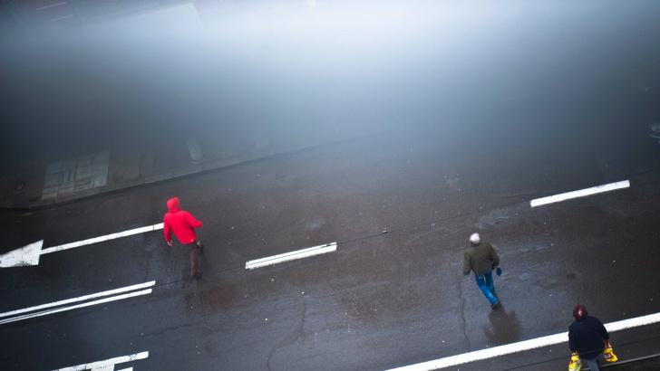 Снимка БГНЕСОпасно мръсен въздух отчитат системите в цялата страна от