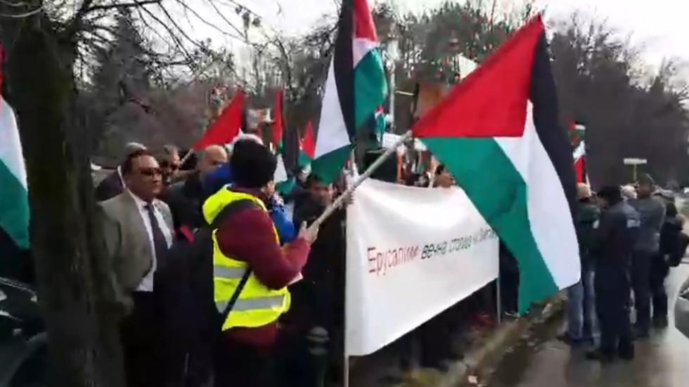 Снимка Нова твПалестинската общност в България излезе на мирна демонстрация