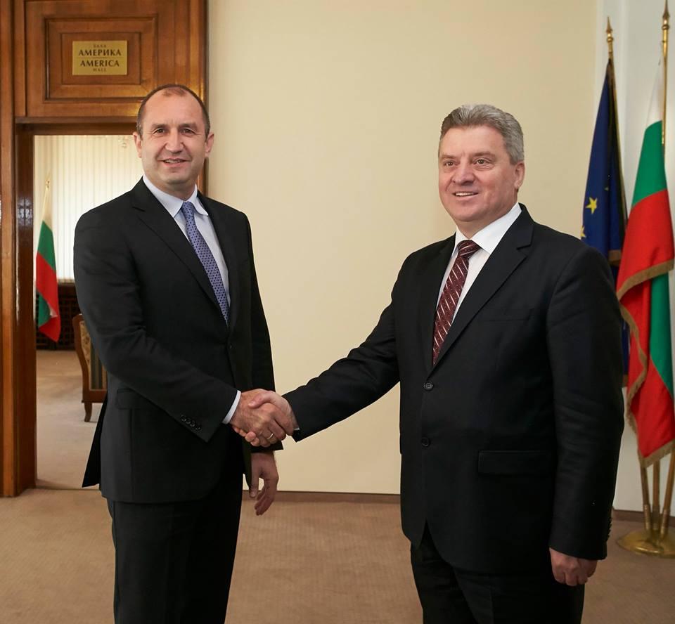 Румен Радев се срещна с Георге Иванов в София по