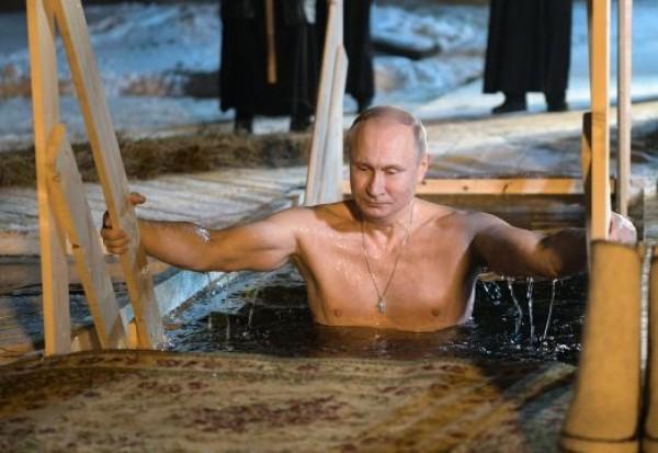 Снимка Би Ти ВиРуският президент Владимир Путин се изкъпа в