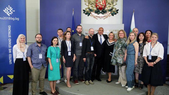 С група руски журналисти е разговарял днес премиерът Бойко Борисов,