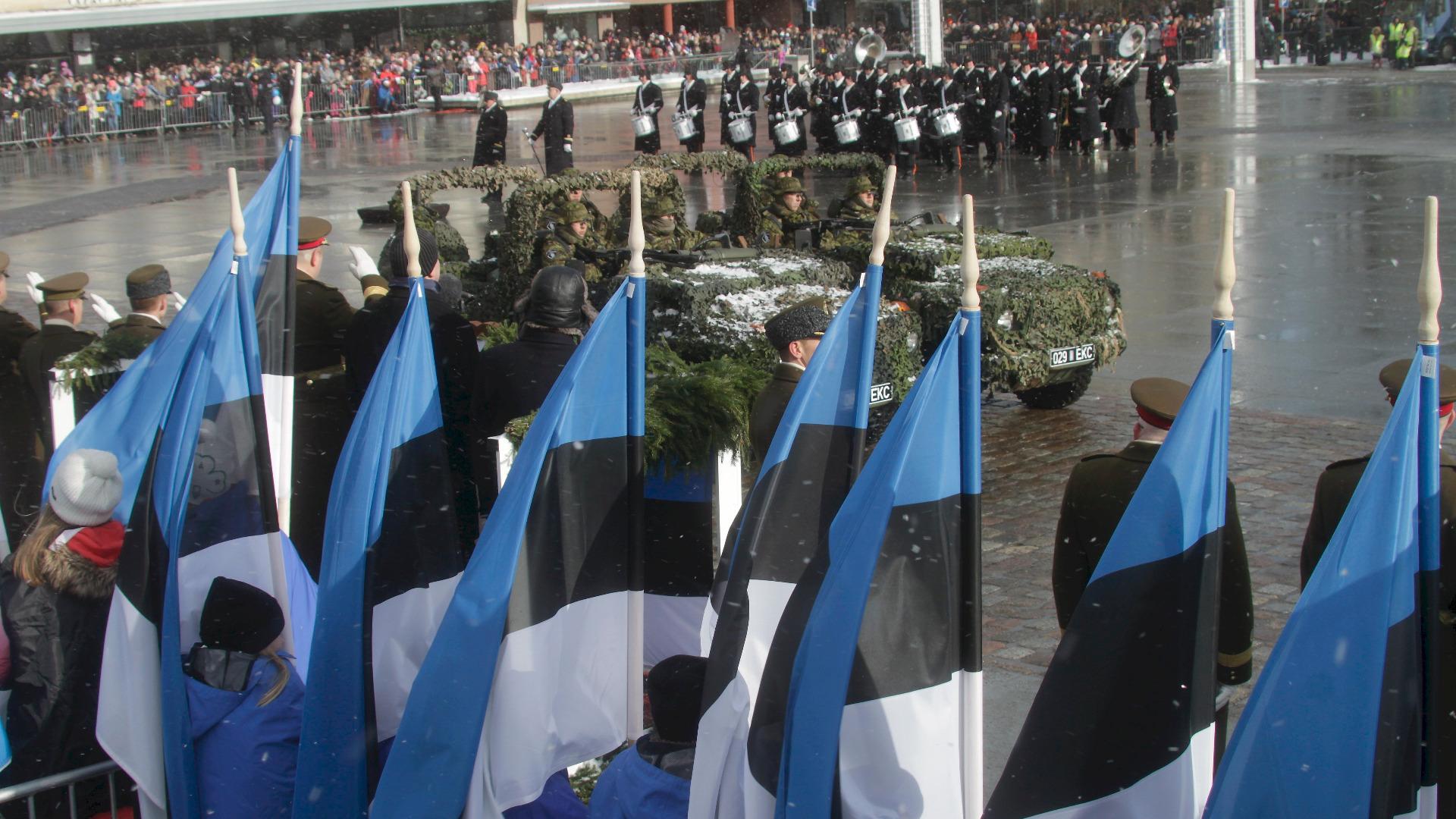 Снимка ЕПА/БГНЕС Естония отбеляза вчера стотната годишнина на независимостта си