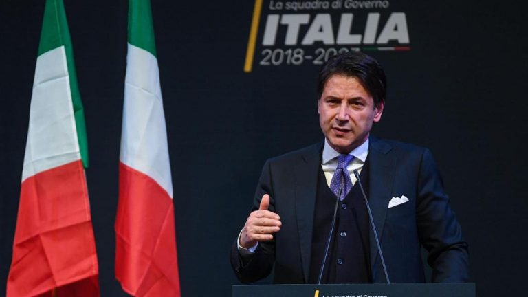 Джузепе Конте Снимка: ЕПА/БГНЕСНоминираният за премиер на Италия Джузепе Конте